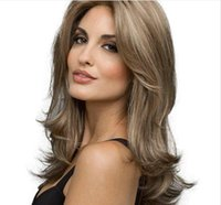 Patlama saç peruk, Avrupa ve Amerikan alt moda bayanlar dilek orta uzun kıvrılmış saç kimyasal elyaf şapka