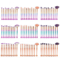 MAANGE 10pcs Кисти для макияжа Комплект мягких глаз Shadow Brow Blush Powder Lip Concealer Blending Cosmetic Make Brush Beauty Tool Kit