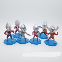 wholesales price 6style Ultraman superman model toy boys gif...