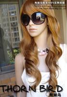 LYCS حزب الرقص بيع رخيصة cosplays100 ٪ الشعر الحقيقي! أسلوب جميل براون طويل الأزياء تأثيري متموجة مجعد شعر مستعار