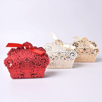 3 Colors New Free shipping red white beige hollow bow weddin...