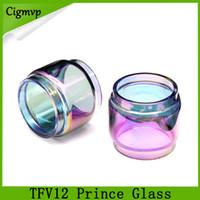 Príncipe TFV12 arco-íris de vidro 8 ml Prolongado Bulbo Gordura Menino Pirex Substituição Tubo De Vidro para TFV12 Príncipe atomizador do tanque DHL Frete Grátis