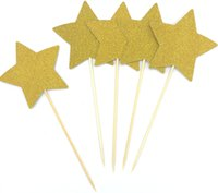 10pcs lot heart Star Cupcake Toppers Party Supplies Twinkle ...