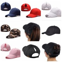 C. C Ponycap Messy High Bun Ponytail Adjustable Cotton Baseba...