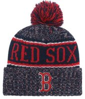 Cappello invernale RED Sox Beanie stripes Sideline Cold Weather Graphite Sport Berretto in lana Berretto caldo Warm Reverse Cap Beanie