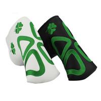 Tapa de clover Exquisito bordado de cuatro hojas para golf Putters Club Trébol negro blanco 2 colores