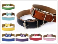 Hot sale Dog accessories Real Cowhide Leather Dog Collars le...
