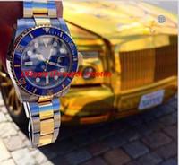 Luxury Best V7 Versione Two-Tone 18K Wrapped Gold Mens Orologio automatico lunetta in ceramica Eta 2836 Data Movimento Uomo Dive Sport