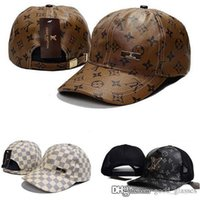 Fashion Men Women L Cap Brand Designer Sports Hats M Leather...
