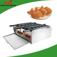 Ticari Elektrikli Çift Plaka Tayvan Taiyaki Makinesi Balık Waffle Makinesi Popüler Balık Şekilli Taiyaki Makinesi Dolma Kek Makinesi Snack Equi