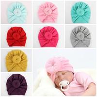 Newborn rose knot headbands caps chapéu de mistura de algodão macio acessórios para o cabelo do chuveiro de bebê turbante headwear presente de natal