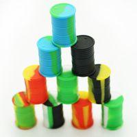 Contenants de cire antiadhésifs de haute qualité Silicone Box 11ML Container Food Grade Pots Dab Tool Storage Jar Oil holder de la FDA approuvé