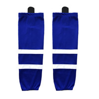 2016 100% Polyester Ice Hockey Sokken Apparatuur Custom Team Sport Ondersteuning kan op maat zijn als uw / maat / kleurensokken