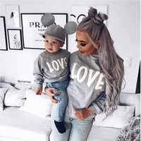 Pareja Camiseta Amor Madre Hijo Hija Camisas a juego Ropa con capucha de familia Ropa