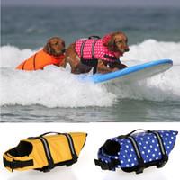 كلب صغير كبير الكلب التوقف الحياة سترة عاكسة pet الحافظ 2XS-2XL السلامة المائية سترة السباحة ارتداء عالية الجودة أكسفورد PD040