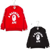 Boys pullover sweatshirt Girls hoodies Children shark Outerw...
