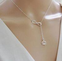 In QualitäT Hot Fashion Perle Anhänger Halskette Mode Silber Blatt Imitation Perle Tropfen Kreuz Halskette Für Frauen Schmuck Geschenk Partei üBerlegene