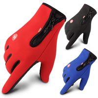Mens Holiday подарок зимний спорт на открытом воздухе вождение держать теплые перчатки прохладный экран с пятью пальцами перчатки