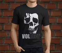 Hot VOLBEAT Hard Rock Band Skull Men' s Black T- Shirt Si...