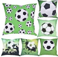 Football World Cup Stampa Tiro Cuscino Serie Soccor Cuscini decorativi per divano auto cuscino del sedile 45x45cm Home Decor