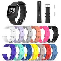 Fitbit Versa için Bileklik Bilek Kayışı Akıllı Watch Band Kayışı Yumuşak Watchband Değiştirme Smartwatch Band