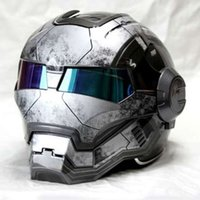 NEW Gray MASEI IRONMAN Iron Man helmet motorcycle helmet ret...