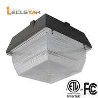 90W 120W Luci Canopy LED per stazioni di rifornimento di illuminazione esterna impermeabile ha condotto i proiettori ad alta lumen AC 110-277V UL DCL ETL