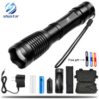 T6 L2 LED Tactical Flashlight 8000 Lumens Porable Torch 5 Mo...