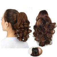 Sara New ! Claw Clip in Short Curly Ponytail Hair Extension ...