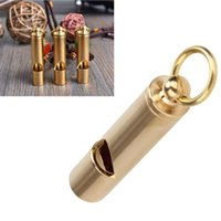 1 pc Brass Whistle Outdoor Survival Tool Vintage Copper Whis...