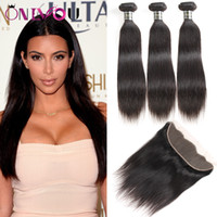 9A Grade Peruvian Straight Virgin Human Hair Weave Bundles w...