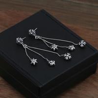 브랜드의 새로운 925 스털링 실버 빈티지 미국 보석 골동품 실버 손으로 만든 디자이너 십자가 가스 스터드 귀걸이 여성을위한