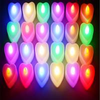 Пакет из 24 ярких белых чайных огней с батарейным питанием LED в форме сердца чайные огни мерцают беспламенный Свадьба День Рождения рождественские украшения