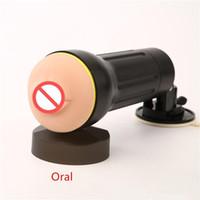 무료 배송 !!! 핸즈프리 전자 남성 수염 성인 섹스 토이 남성 구강 섹시한 제품 블랙 실리콘 섹스 기계