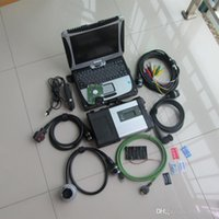 For benz diagnosis tool multiplexer mb star c5 laptop cf19 touch screen with 320gb hdd car and truck scanner all cables