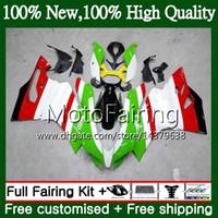 Injektionskropp för Ducati 899R 1199R 899 1199 12 13 14 15 16 15MF14 899 S R 1199S 2012 2013 2014 2015 2016 Grön vit Fairing Bodywork