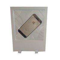 حجم كبير شفاف مجوهرات الاكريليك عرض مربع PET غشاء صورة قلادة قلادة الهاتف 3D تعليق عرض موقف 18 * 23cm شحن مجاني