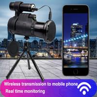 40 * 60 Inalámbrico de Monocular Inalámbrico Telescopio Móvil de Visión Nocturna Digital HD de Alta Ampliación Caza al Aire Libre 12 veces FMC Película Verde DHL