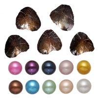 Okrągła Oyster Pearl 6-8mm 2018 Nowy 20 Mix Kolor Duży Świeży Wody Prezent DIY Natural Pearl Luźne Koraliki Dekoracje Packuum Opakowanie Hurtownie