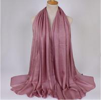 Мягкие льняные шали шелковые простые шали хиджаб весна большой размер весна мусульманин оголовье обернуть солнцезащитный крем шарф пляж шарфы 180*100 см