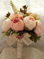 Букеты де Casamento искусственные новые свадебные букеты невесты Букет невесты Свадебный букет с цветами старинные кружева Буке де Нойва