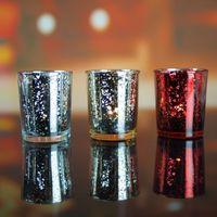Cam Tealight Mumluk 5 Renkler Mum Kupası Standı Sevgililer Hediye Ev Partisi Düğün Dekorasyon