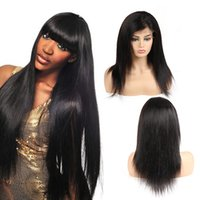Unprocessed Straight Brazilian Virgin Hair Lace Front Wigs H...