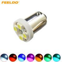 FEELDO 50PCS 7 색 BA9S T4W 1895 3528/1210 4SMD 4LED 차량용 LED 라이트 대시 보드 라이트 도어 라이트 12V # 2639