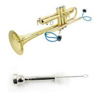 4 Trompet Temizleme Kiti Trompet Ağızlık Fırça Vana Fırça Esnek Fırça-MÜZİK Set