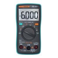 자동 디지털 멀티 미터 테스터 6000 Count AC / DC 옴 전류계 온도계 Capacimetro Rlc Meter Test