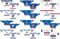 Пользовательские 1963 64-1979 80 OHL мужские женские дети белый синий 2006 07 08 специальное мероприятие Stiched Kitchener рейнджеры логотипы Онтарио хоккейная лига Джерси