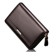 العلامة التجارية الجديدة محفظة رجال الأعمال جيب عملة محفظة الرجال سعة كبيرة متعددة بطاقة بت عارضة مخلب المحفظة أزياء المحفظة 2018