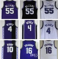billig   55 Jason Williams Basketball Jerseys 4 Chirs Webber 16 Peja  Stojakovic 10 Mike Bibby genähte Jersey 4e7c69f19