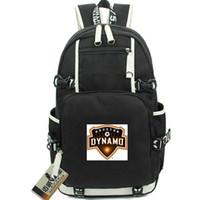 Dynamo Dypack Houston Backpack 2005 Clube de Futebol Mochila Soccer Schoolbag Computador Rucksack Esporte Saco de Escola Outdoor Day Pack